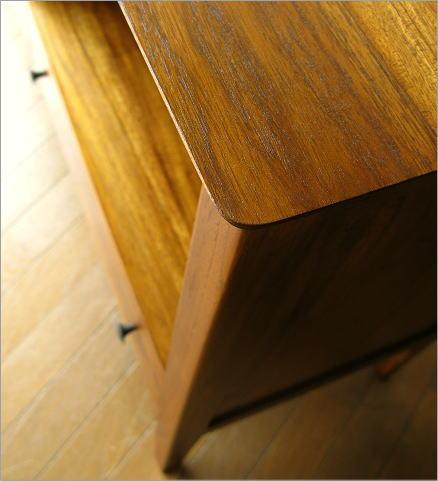 サイドボード 木製 チークミドルフリーラックC(4)