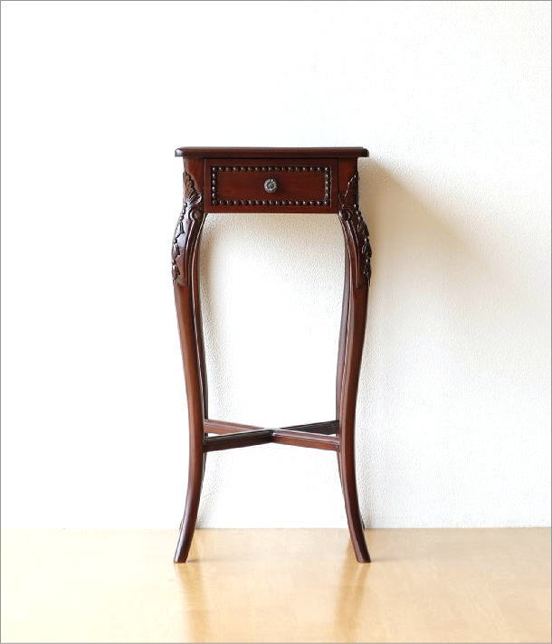 マホガニーコンソール 彫刻(7)