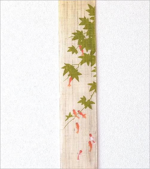 細タペストリー 金魚に楓(2)