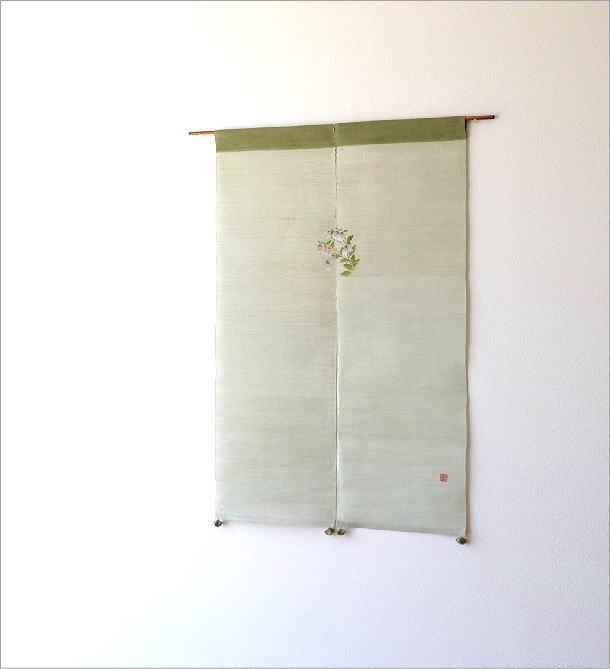 手染め麻のれん風音 蛍袋(1)
