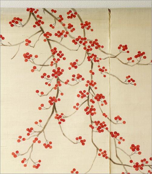 手描きのれん 梅もどき(2)