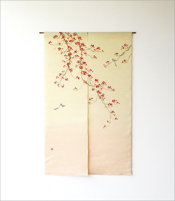 手描きのれん 梅もどき(5)