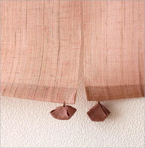 手染め麻のれん風音 桜(4)
