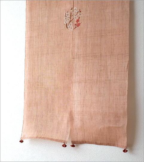 手染め麻のれん風音 梅丸紋(2)