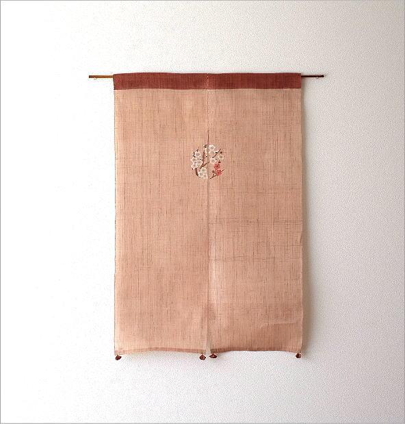 手染め麻のれん風音 梅丸紋(5)