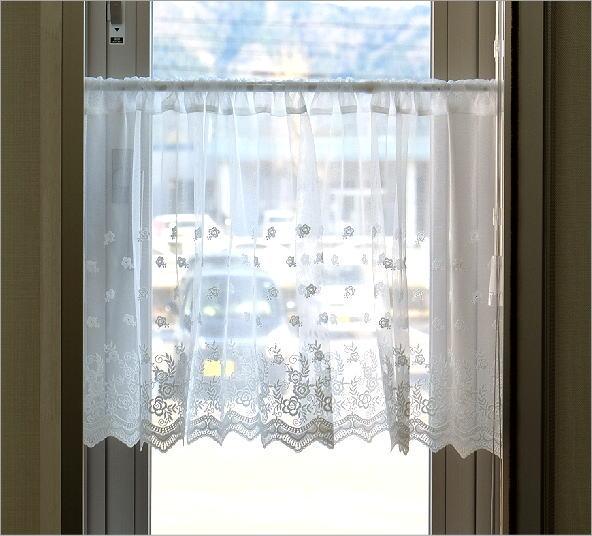 小窓 45cm丈 カフェカーテン DW(4)