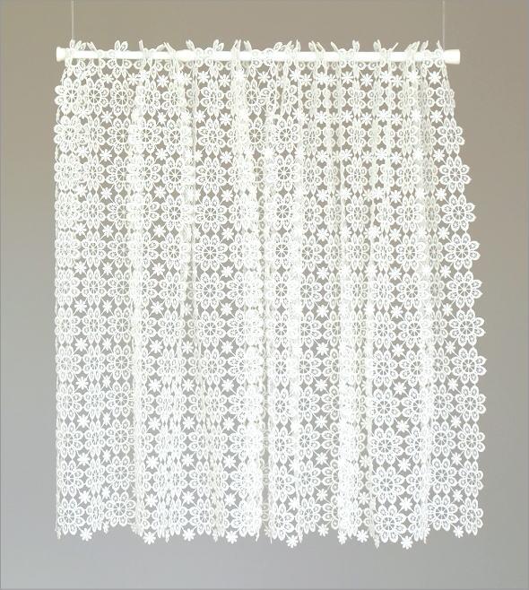 カフェカーテン 小窓 60cm丈 オールレース60(4)