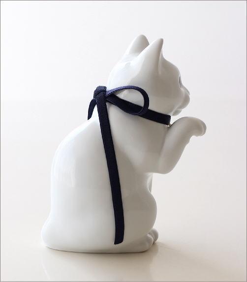 へそくりの招きネコ 白磁(2)