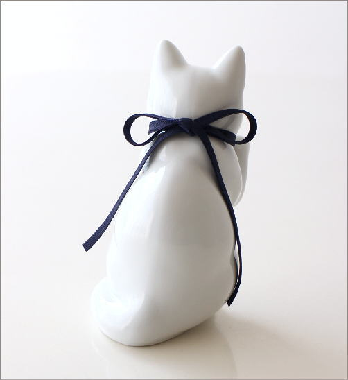 へそくりの招きネコ 白磁(3)