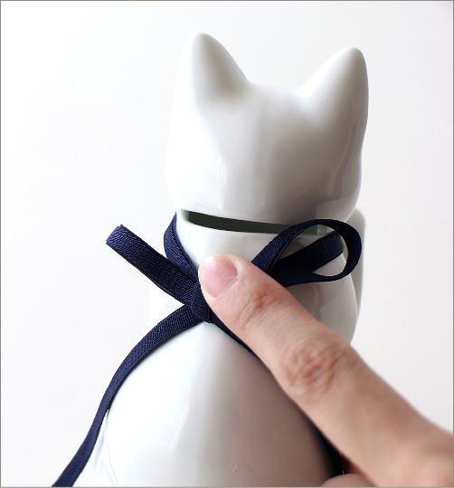 へそくりの招きネコ 白磁(4)