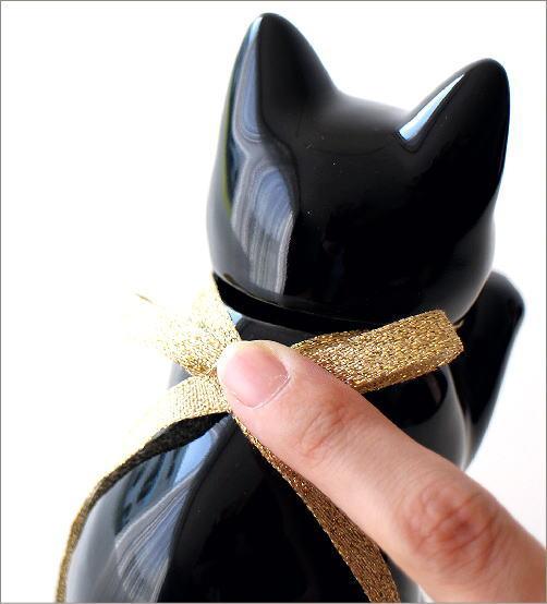 へそくりの招きネコ ブラック(4)