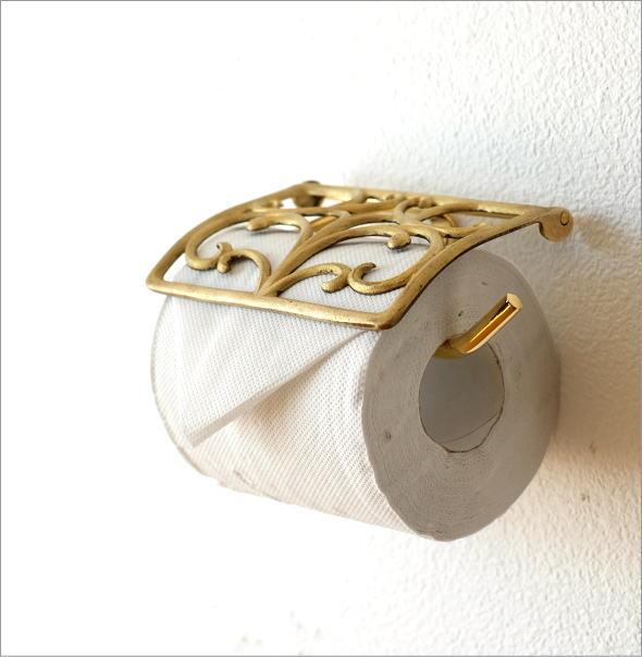 真鍮製のゴールドトイレットペーパーホルダーです